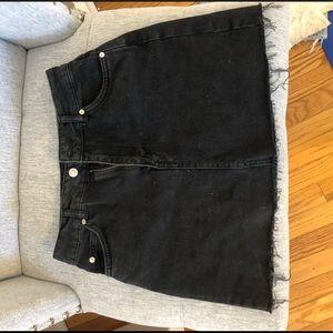 Topshop black jean mini skirt